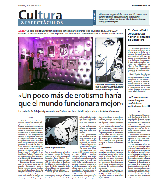 Article Ultima Hora 2012